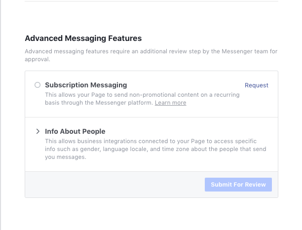 Request Subscription message permissions