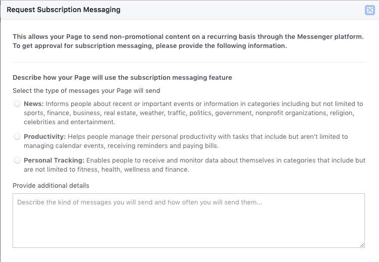 Subscription message permissions