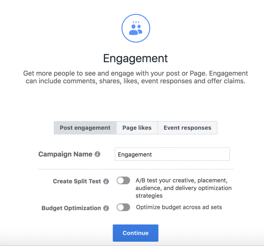 FB engagement ads