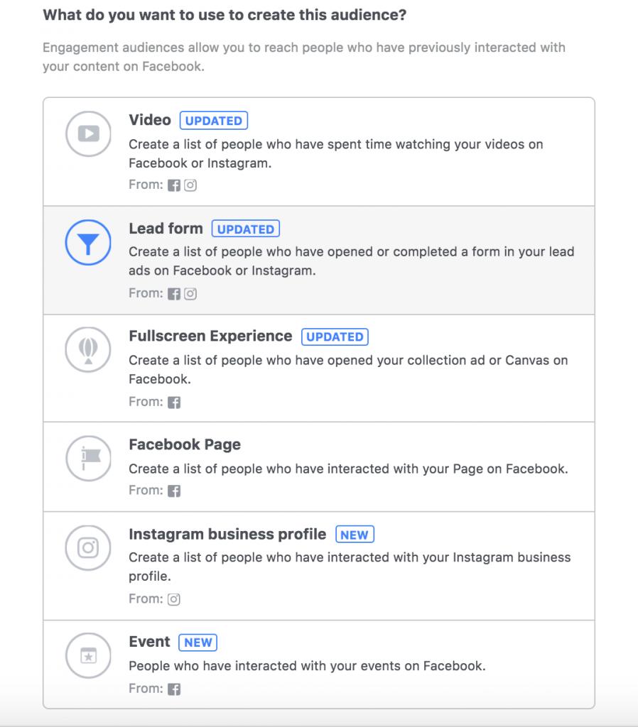 Facebook retargeting, remarketing