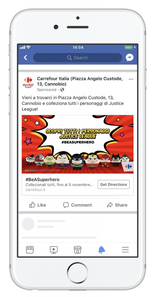 Carrefour Facebook ads results