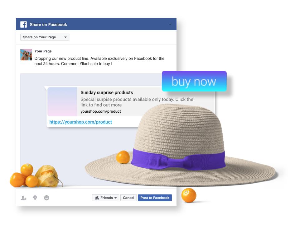 Facebook targeting, jumper checkout