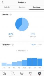 Using Instagram insights for Black Friday ecommerce promotions