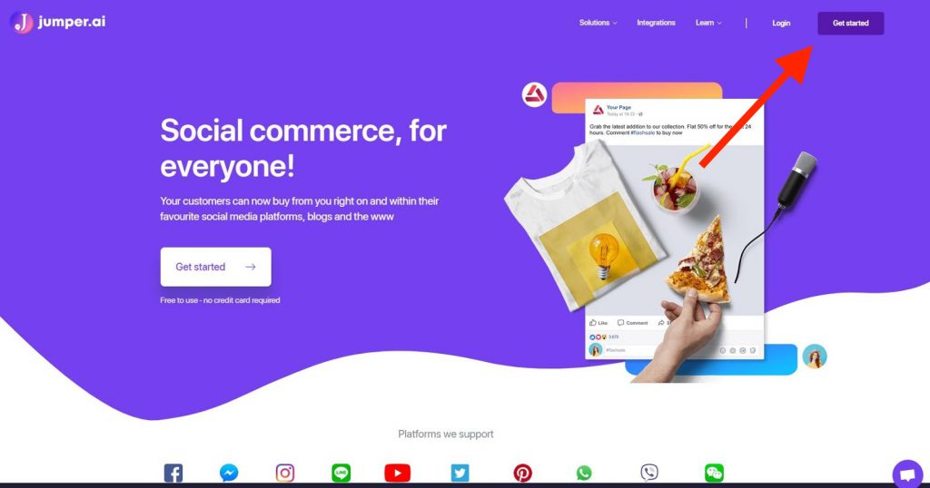 jumper. automated chatbots, social commerce