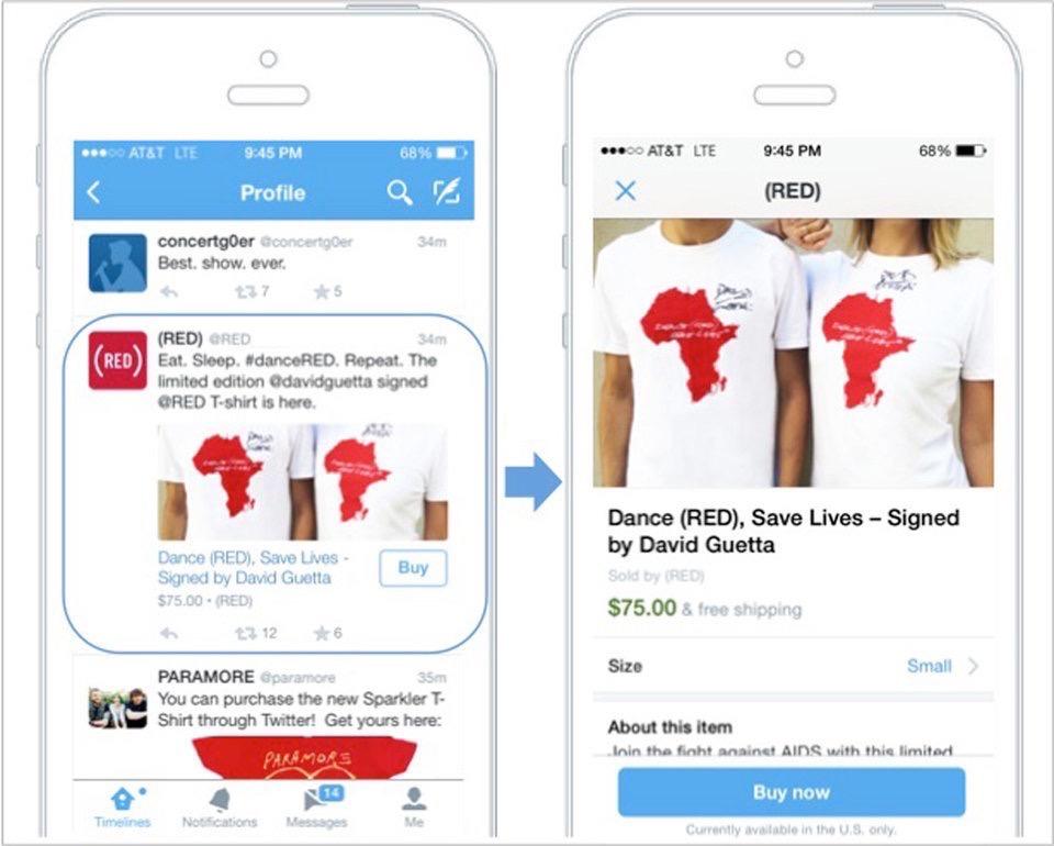 Twitter, social commerce
