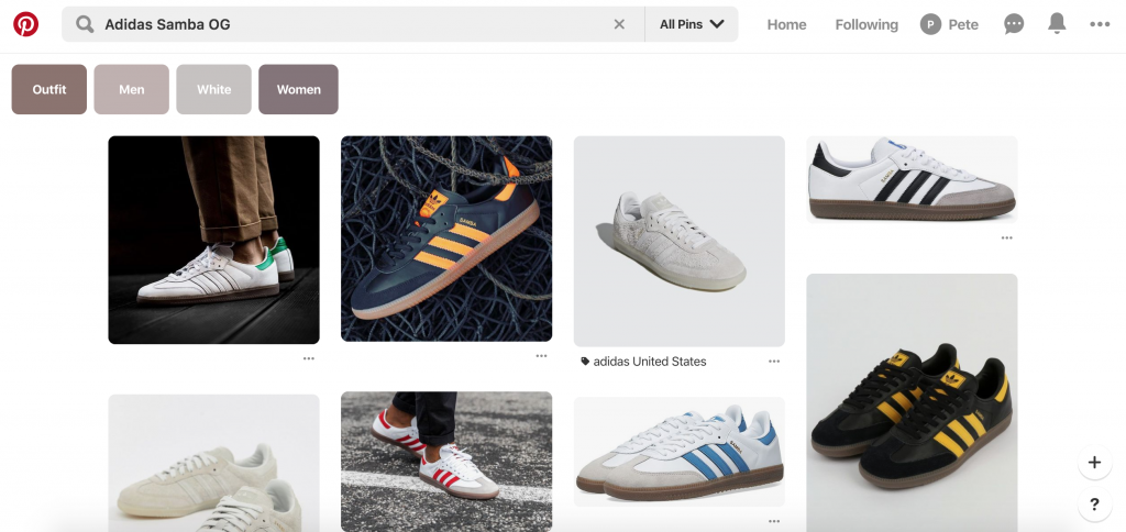 Pinterest boards for social selling