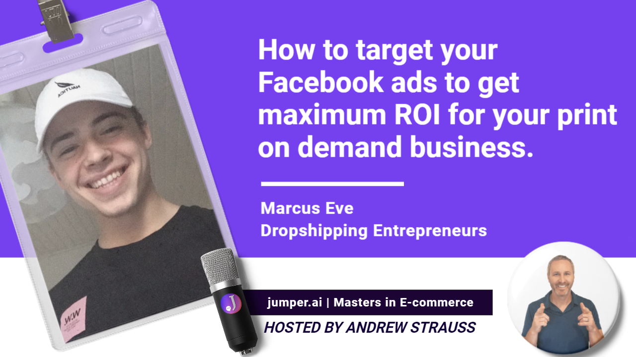 VidCast #17 : How to target your Facebook ads to get maximum ROI for your print on demand business