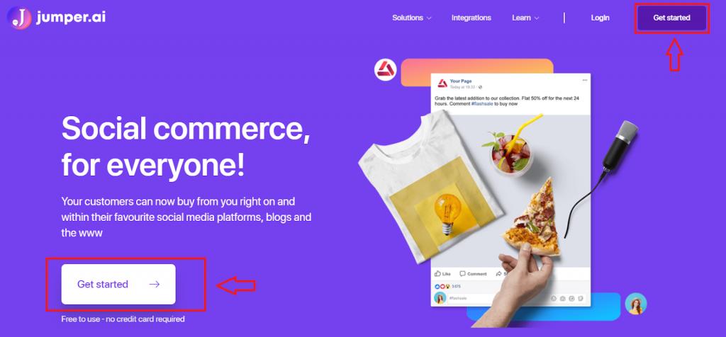 jumper. social commerce