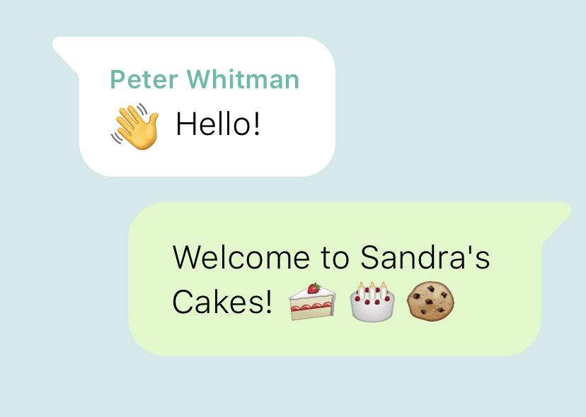 Whatsapp business app wlecome message